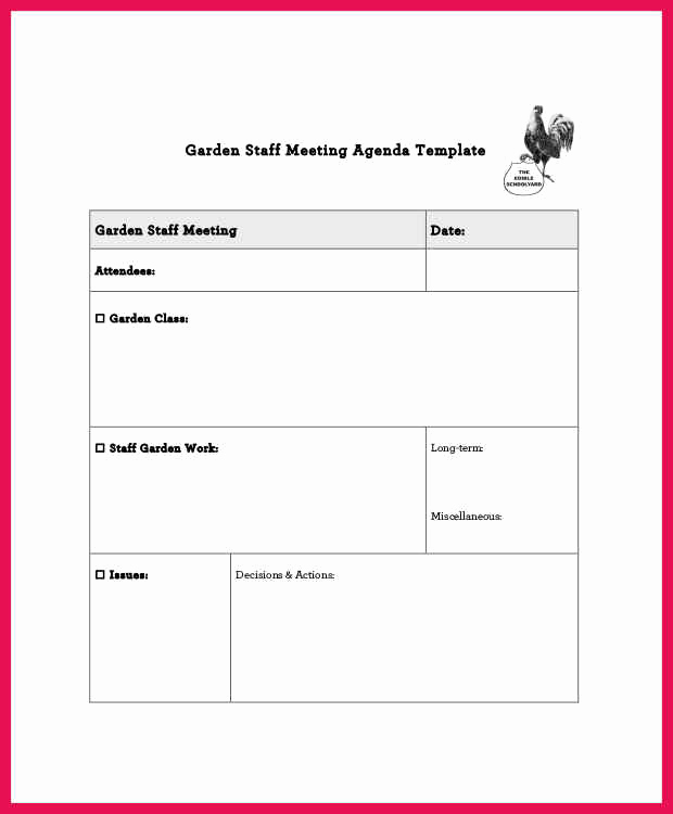 Staff Meeting Agenda Template Luxury Staff Meeting Agenda Template