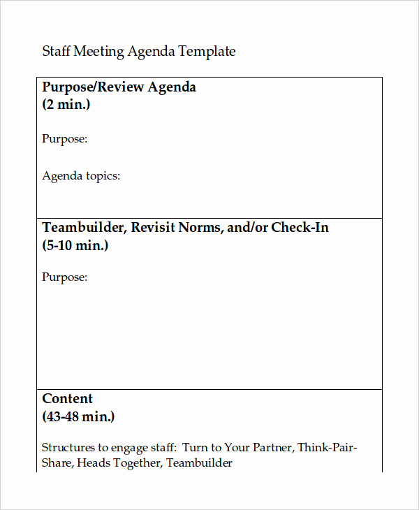 Staff Meeting Agenda Template Luxury Word Agenda Template 6 Free Word Documents Download