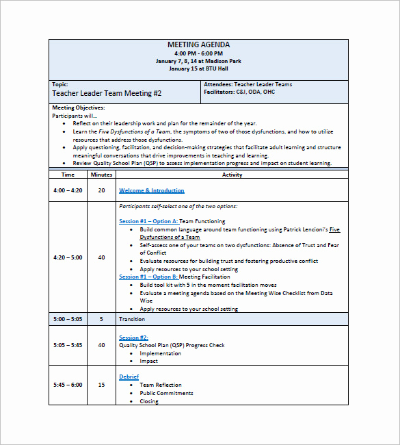 Staff Meeting Agenda Template New 17 Staff Meeting Minutes Templates Pdf Doc
