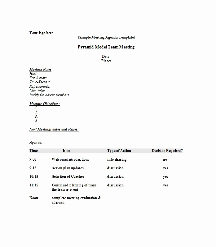 Staff Meetings Agenda Template Awesome 51 Effective Meeting Agenda Templates Free Template