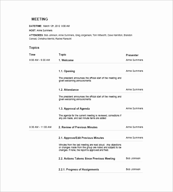 Staff Meetings Agenda Template Beautiful 17 Meeting Agenda Templates Free Sample Example