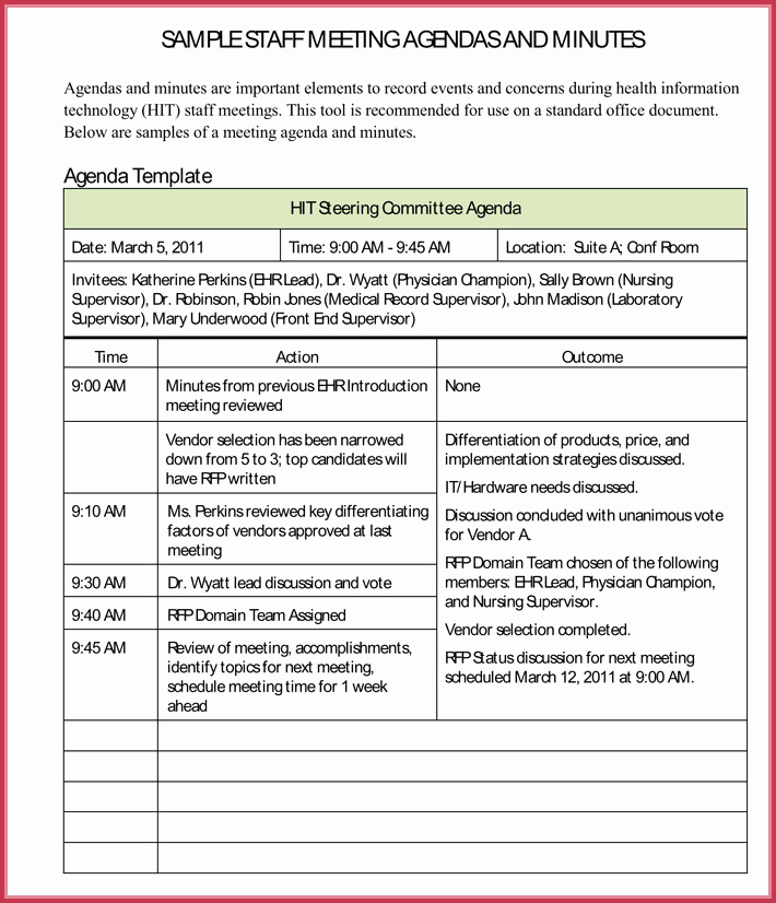 Staff Meetings Agenda Template Inspirational Simple Agenda Template 19 Best Agenda S Download In Pdf