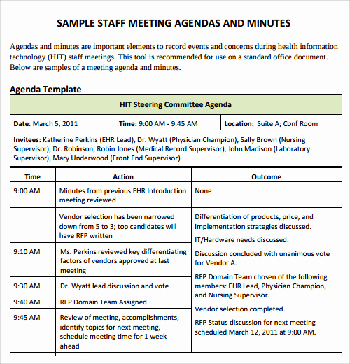 Staff Meetings Agenda Template Unique Agenda Template 29 Download Free Documents In Pdf
