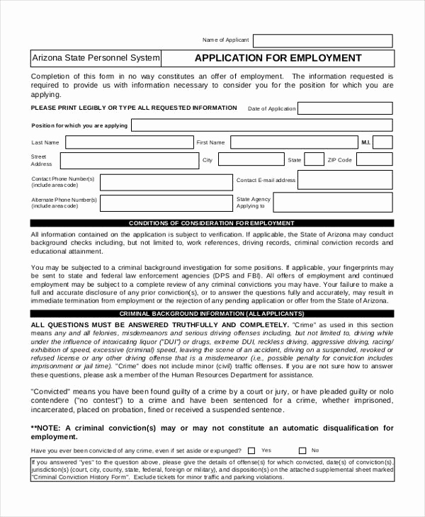 Standard Job Application form Lovely 41 Application Templates In Pdf