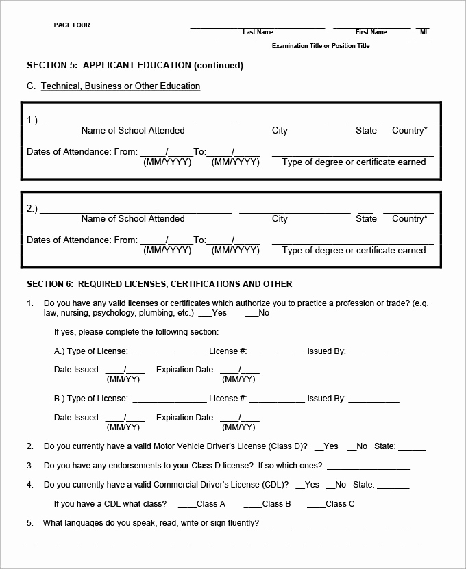 Standard Job Application form Luxury 13 Sample Hr Application forms & Templates Pdf Doc