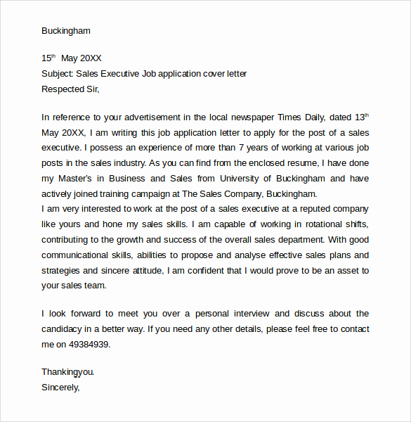 Standard Job Application format Unique Sample Job Application Cover Letter 10 Free Documents In