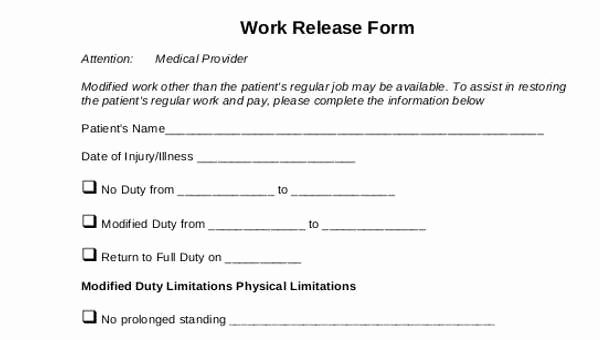 Standard Medical Records Release form Fresh Generic Release forms