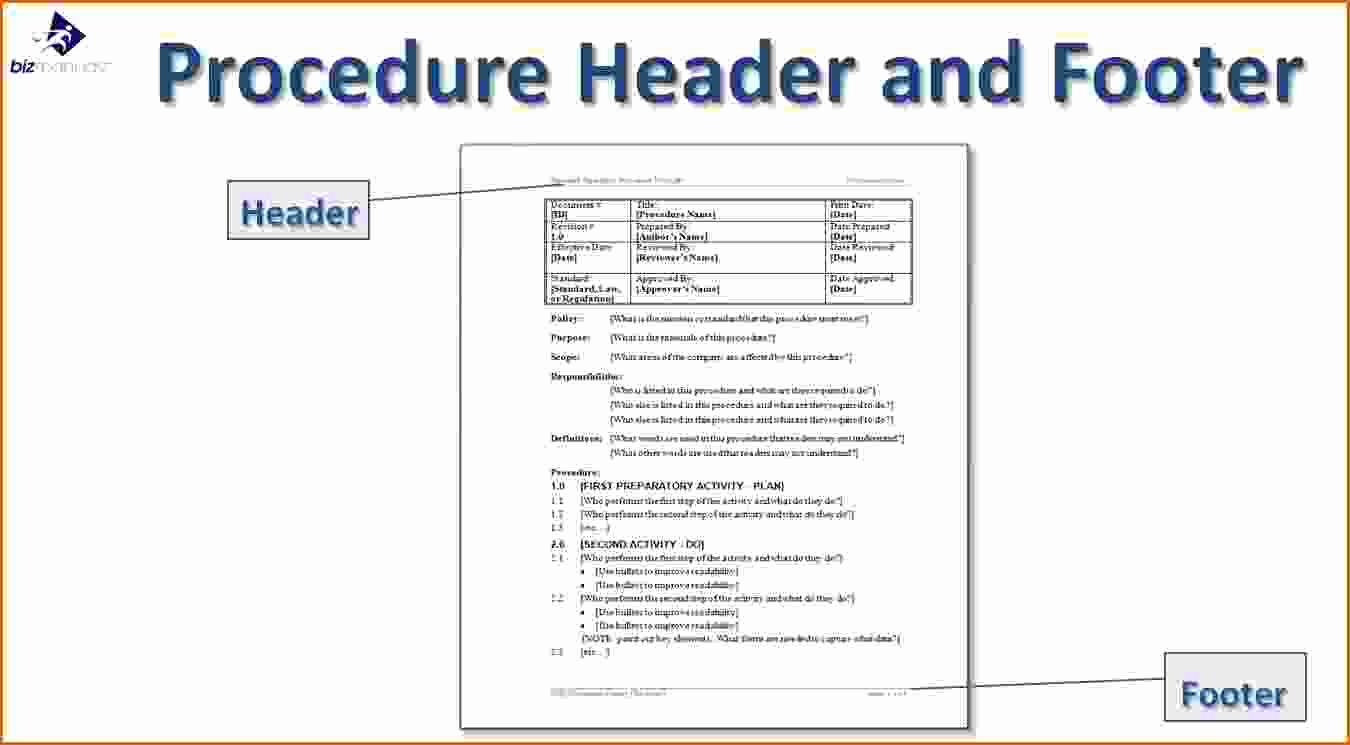 Standard Operating Procedures Template Beautiful 14 Standard Operating Procedures Templates