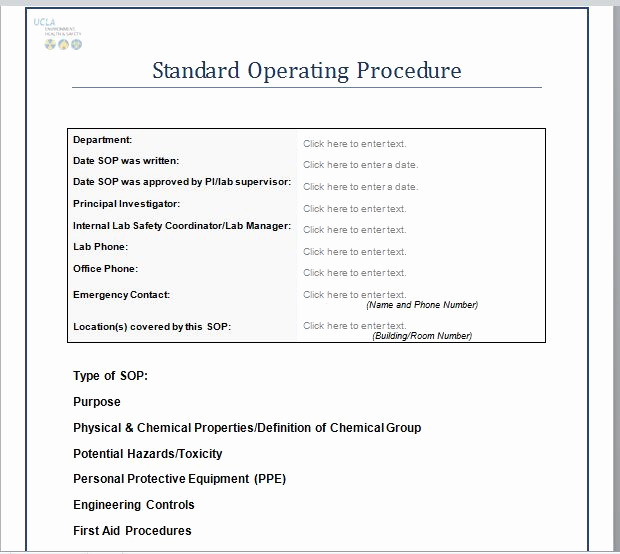 Standard Operating Procedures Template Elegant 37 Best Free Standard Operating Procedure sop Templates