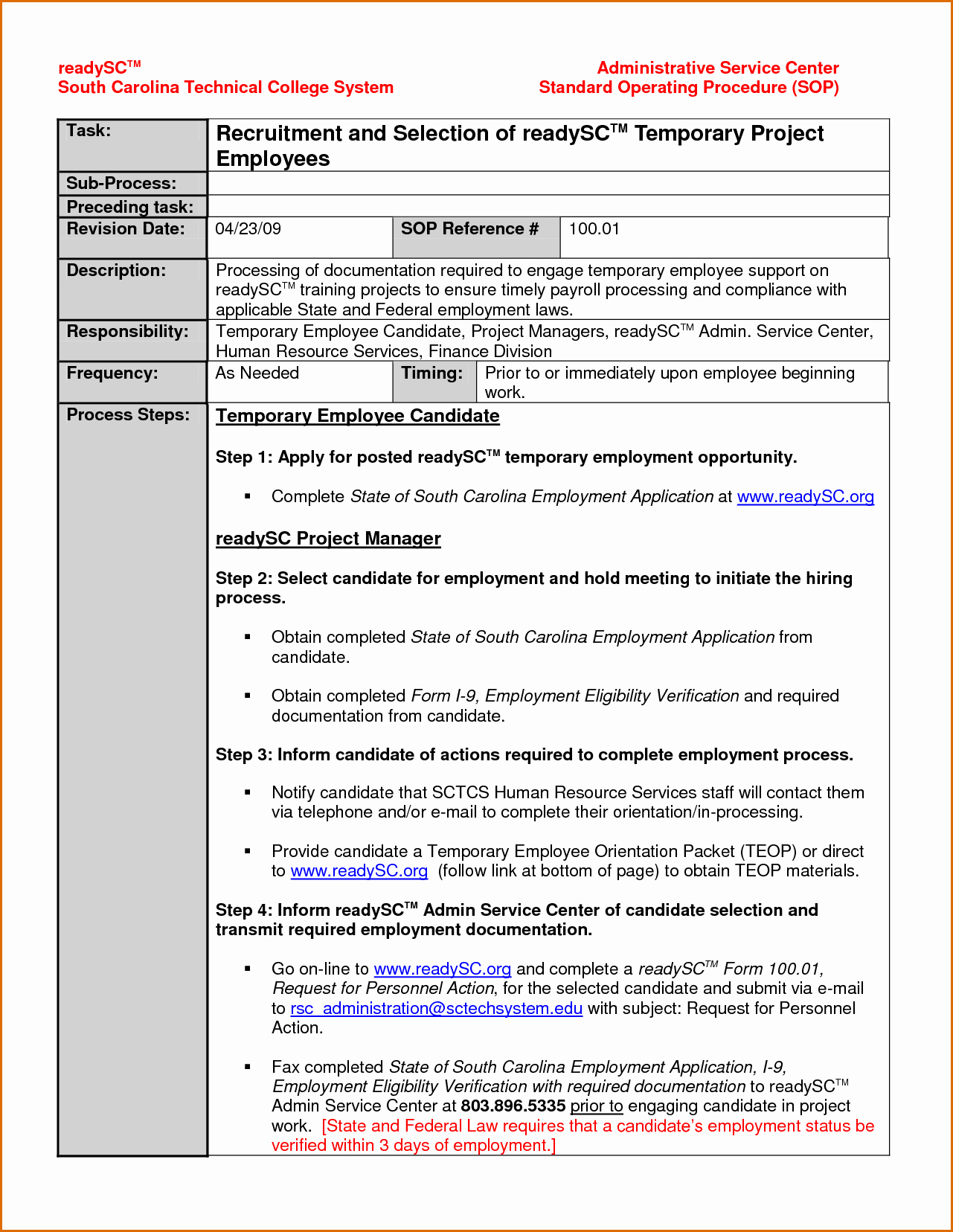 Standard Operating Procedures Template Lovely 14 Standard Operating Procedures Templates