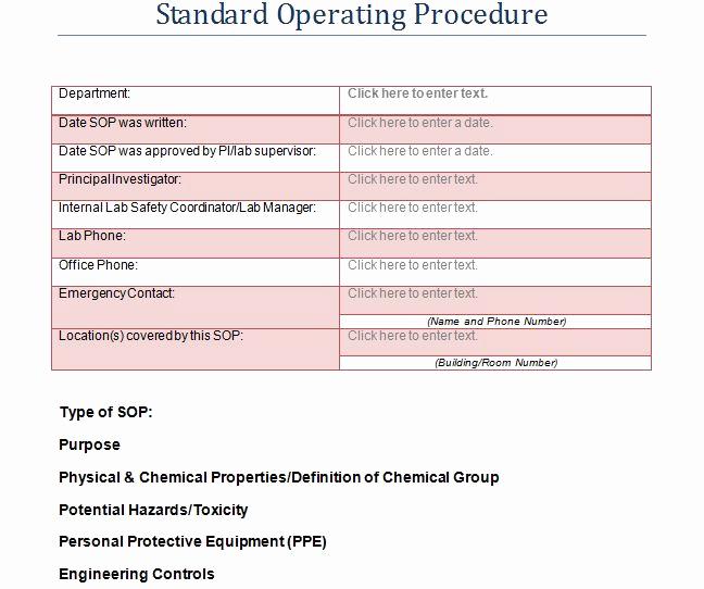 Standard Operating Procedures Template Luxury 37 Best Standard Operating Procedure sop Templates