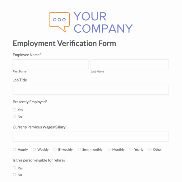 Standard Verification Of Employment form Awesome 15 Wage Verification Letter