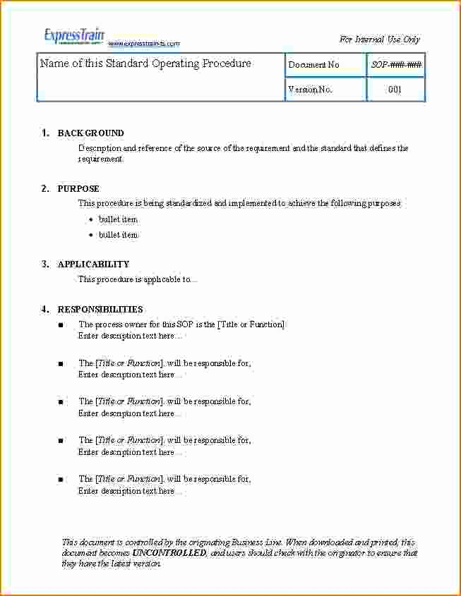 Standing Operating Procedures format Beautiful 3 Standard Operating Procedure Examples