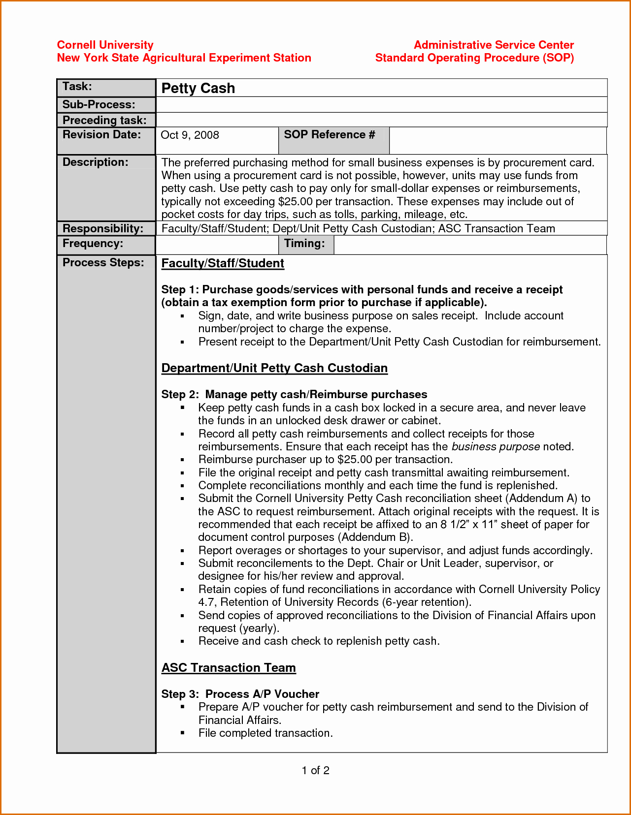 Standing Operating Procedures format Fresh 10 Standard Operating Procedure Template