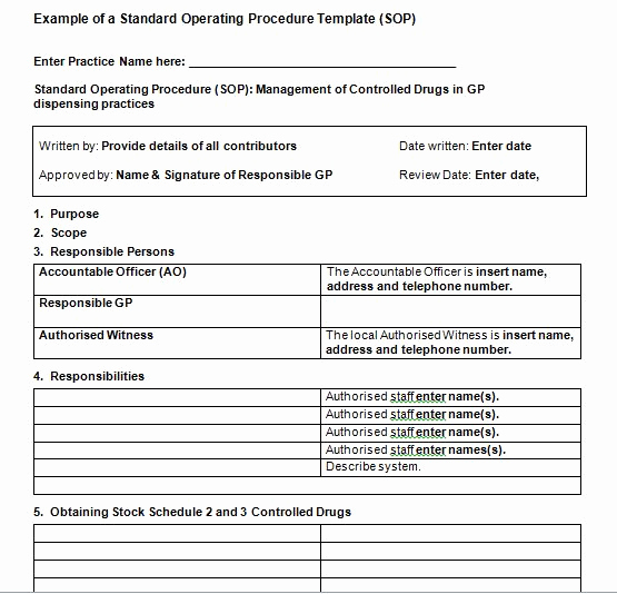 Standing Operating Procedures format Fresh 37 Best Standard Operating Procedure sop Templates