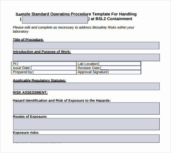 Standing Operating Procedures format New 22 Sample sop Templates Pdf Doc
