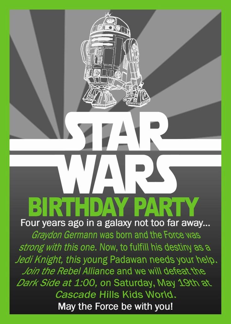 Star Wars Birthday Invitations Beautiful Star Wars Birthday Invitation $10 00 Via Etsy