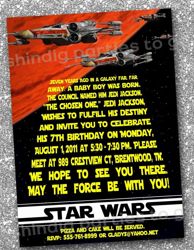 Star Wars Birthday Invitations Beautiful Star Wars Birthday Invitations Templates Free