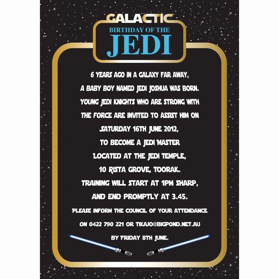 Star Wars Birthday Invitations Beautiful Star Wars Birthday Party