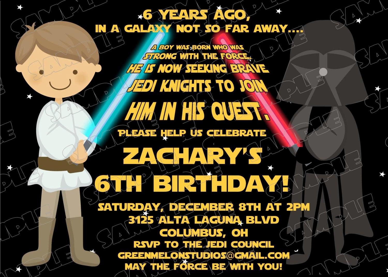 Star Wars Birthday Invitations Beautiful Star Wars Scroll Birthday Party Printable Invitations Uprint