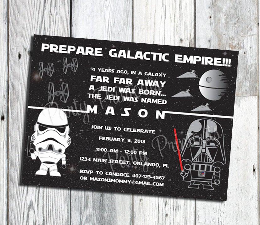Star Wars Birthday Invitations Best Of Star Wars Inspired Invitation Star Wars Birthday Invitation