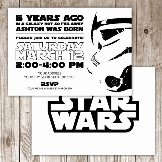 Star Wars Birthday Invitations Elegant 17 Best Ideas About Star Wars Invitations On Pinterest