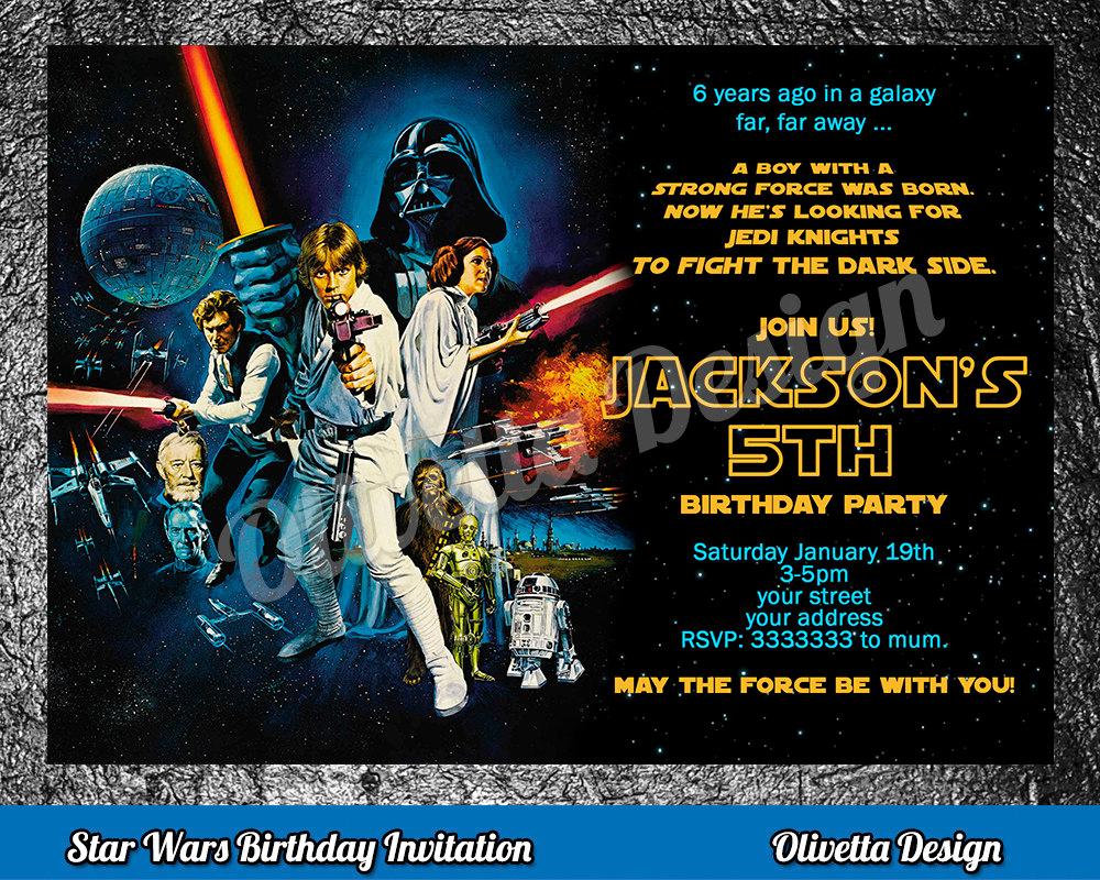 Star Wars Birthday Invitations Fresh Star Wars Birthday Invitation Star Wars Invitation Birthday