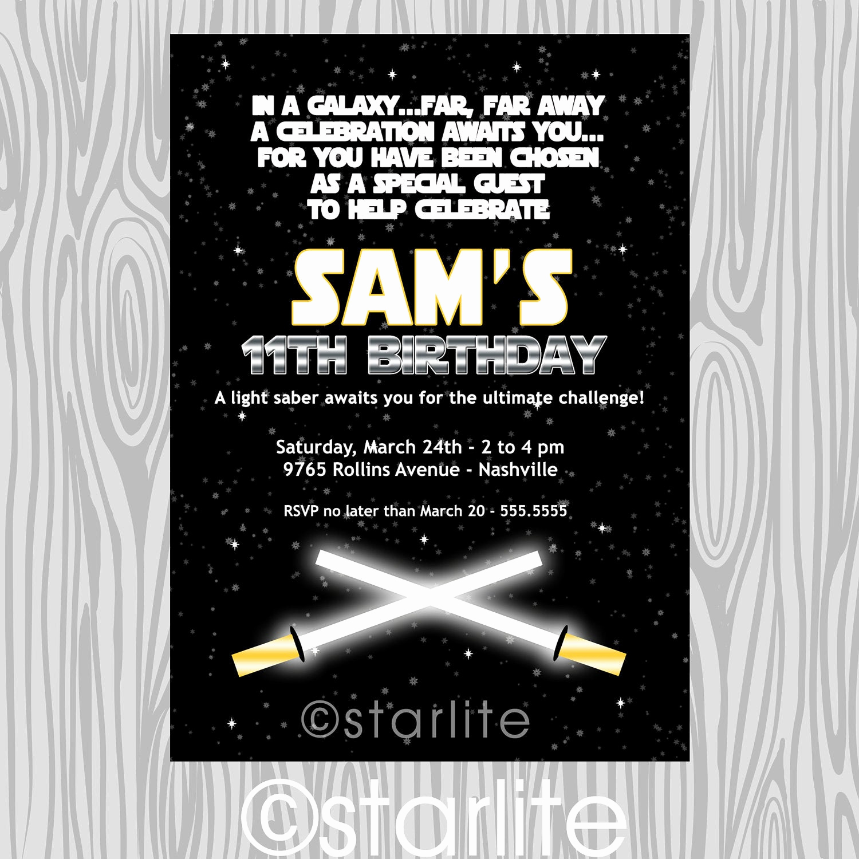 Star Wars Birthday Invitations Inspirational Star Wars Inspired Star Wars theme Birthday Party by Starwedd