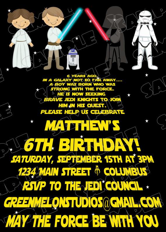 Star Wars Birthday Invitations Lovely Free Printable Star Wars Birthday Invitations – Template