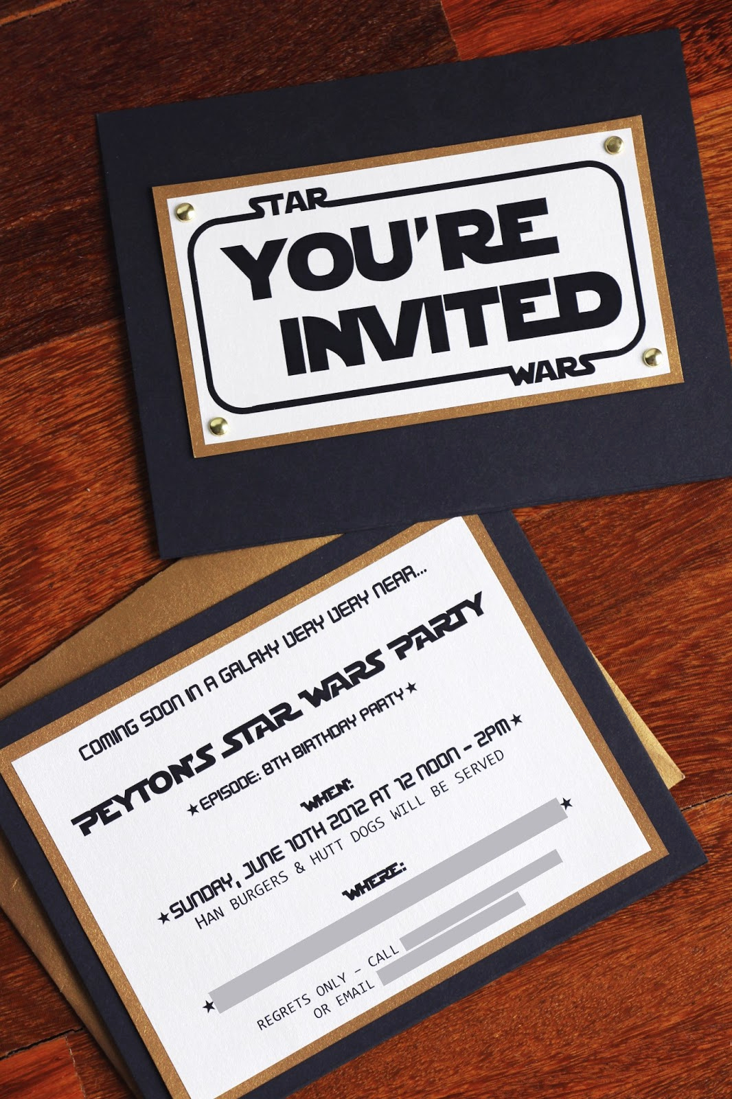 project star wars party invitation