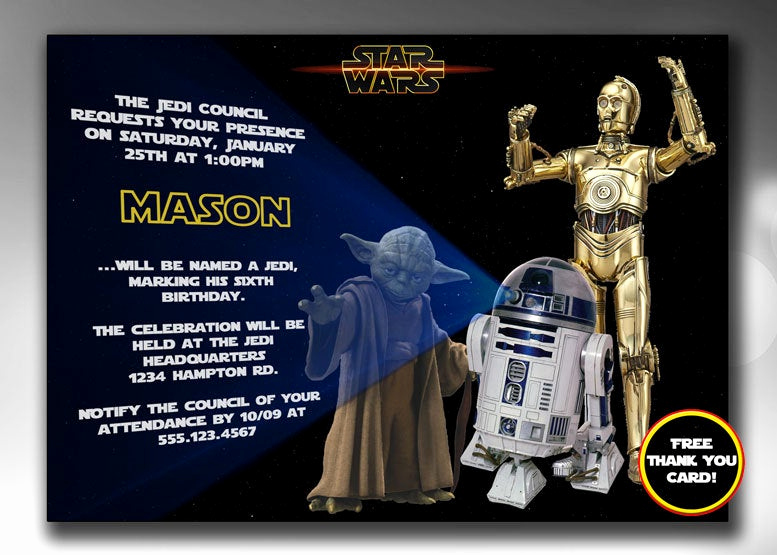 Star Wars Birthday Invitations Luxury Star Wars Invitation Star Wars Birthday by Graphicstopick