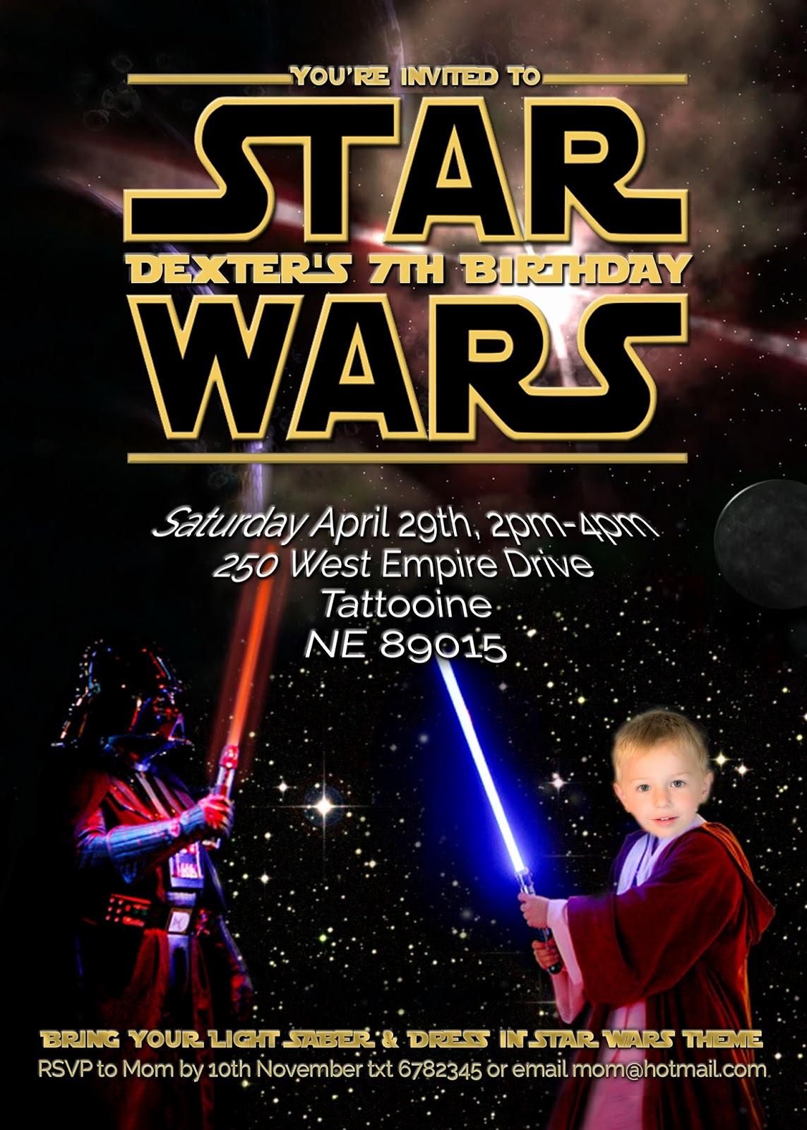 Star Wars Birthday Invitations Unique Free Kids Party Invitations Star Wars Party Invitation