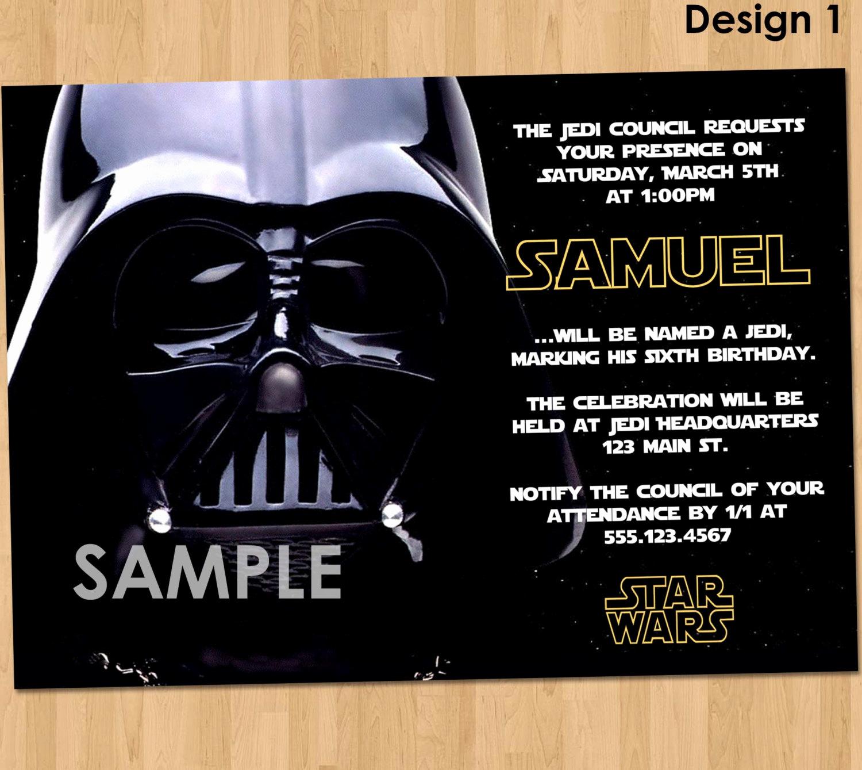 Star Wars Birthday Invitations Unique Free Star Wars Birthday Invitations – Bagvania Free