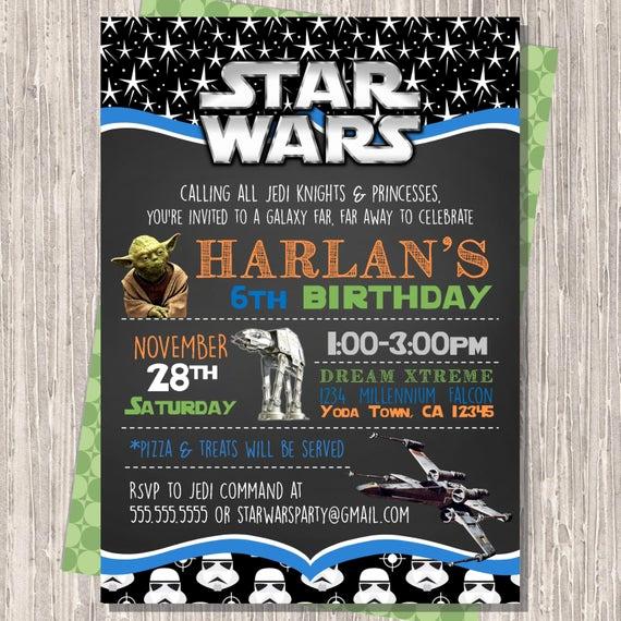 Star Wars Birthday Invitations Unique Star Wars Invitation Star Wars Birthday Invitation Star Wars