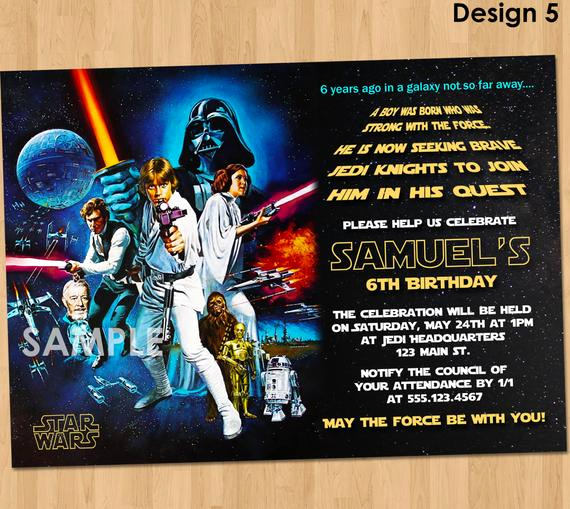 Star Wars Invitation Templates Beautiful Star Wars Birthday Invitation Star Wars Invitation Birthday