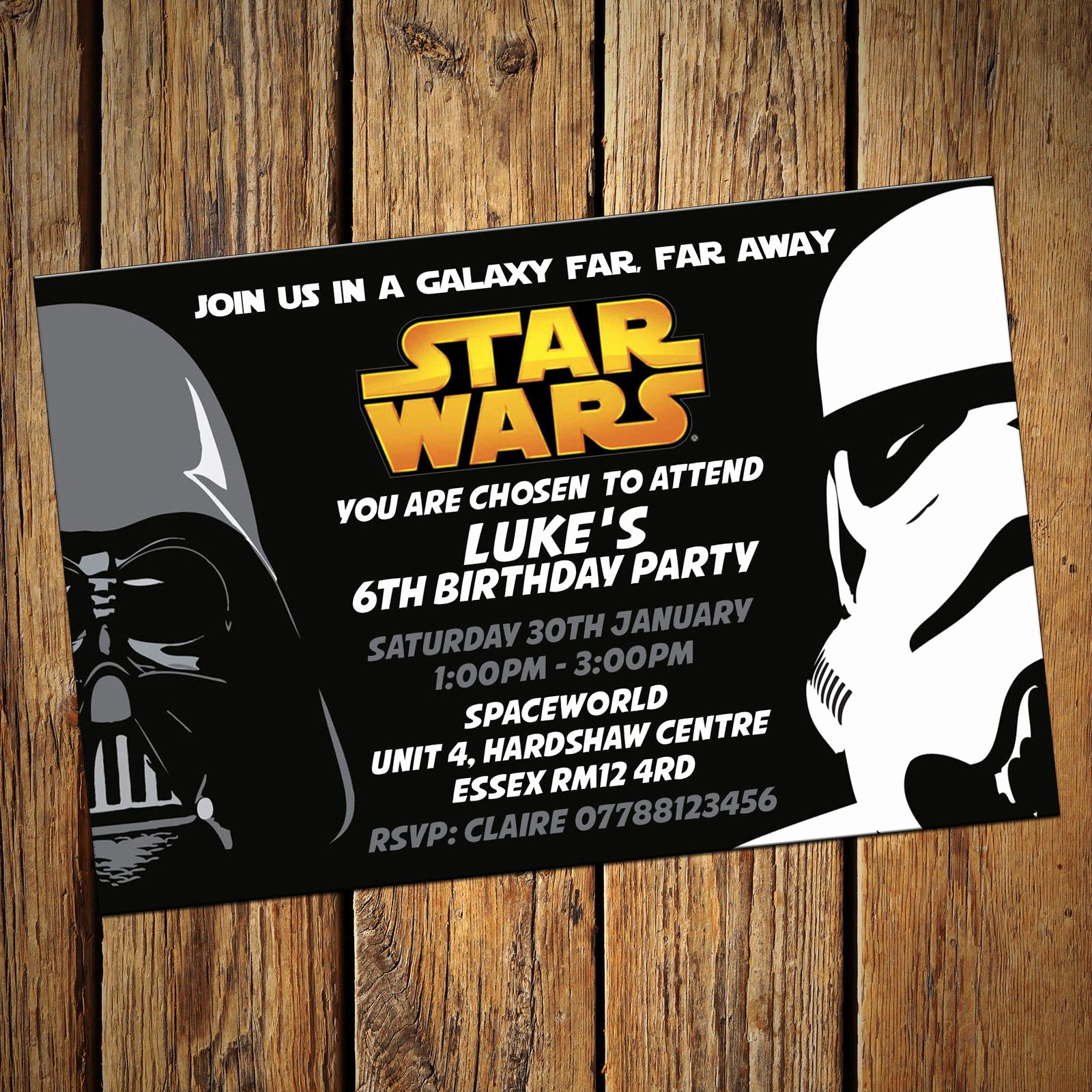 Star Wars Invitation Templates Beautiful Star Wars Personalised Party Invitations Birthday Invites