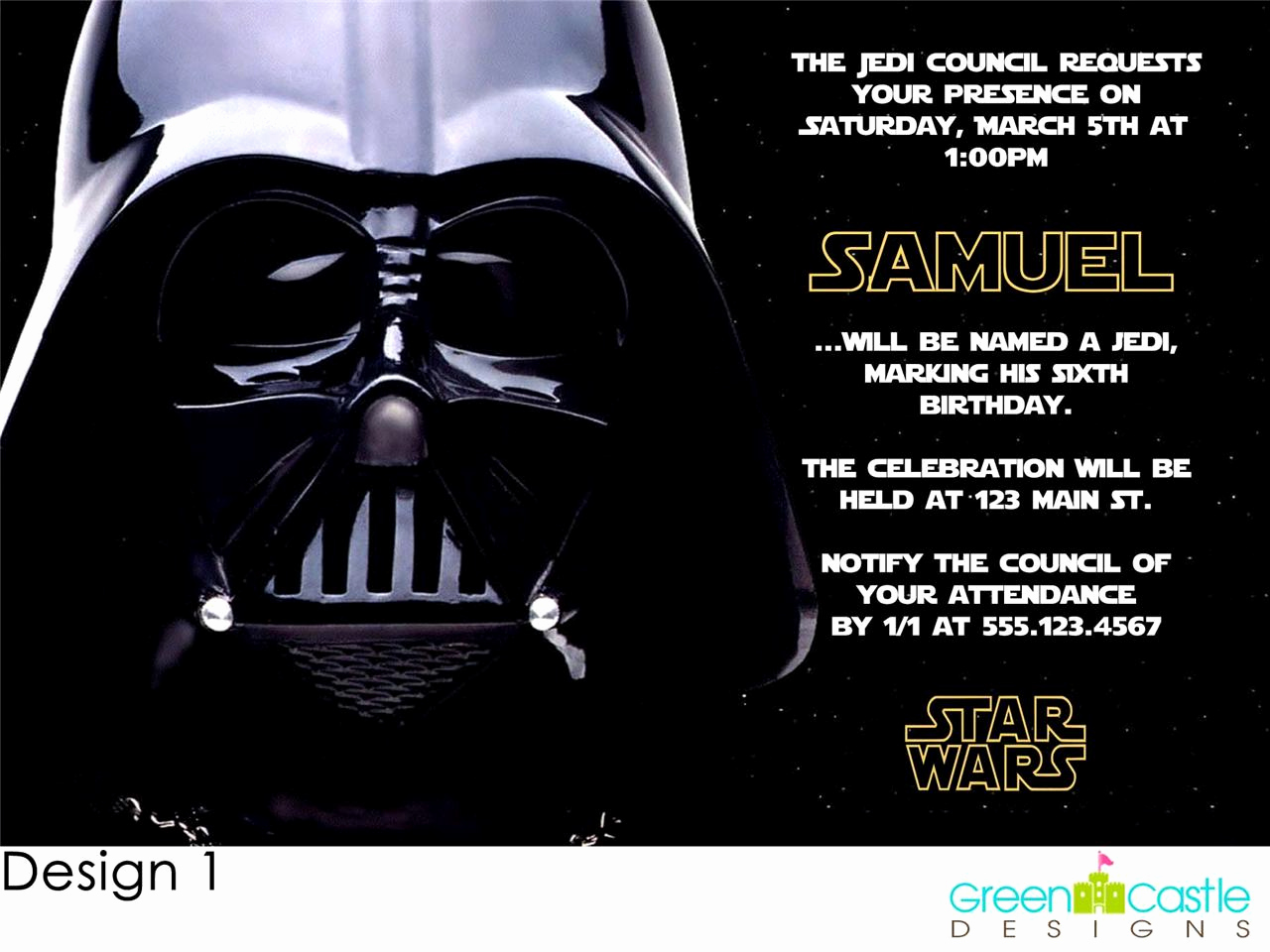 Star Wars Invitation Templates Elegant Free Star Wars Birthday Party Invitations Templates