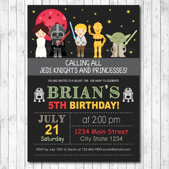 Star Wars Invitation Templates Elegant Star Wars Invitation Star Wars Invite Star Wars Birthday