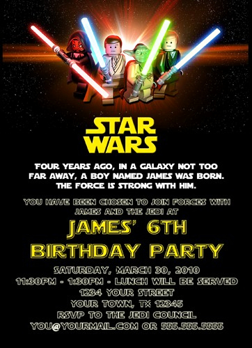 Star Wars Invitation Templates Fresh Free Printable Star Wars Birthday Invitations – Template