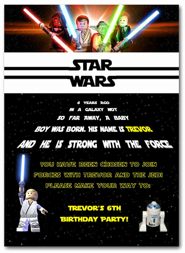 Star Wars Invitation Templates Inspirational 25 Best Ideas About Star Wars Invitations On Pinterest
