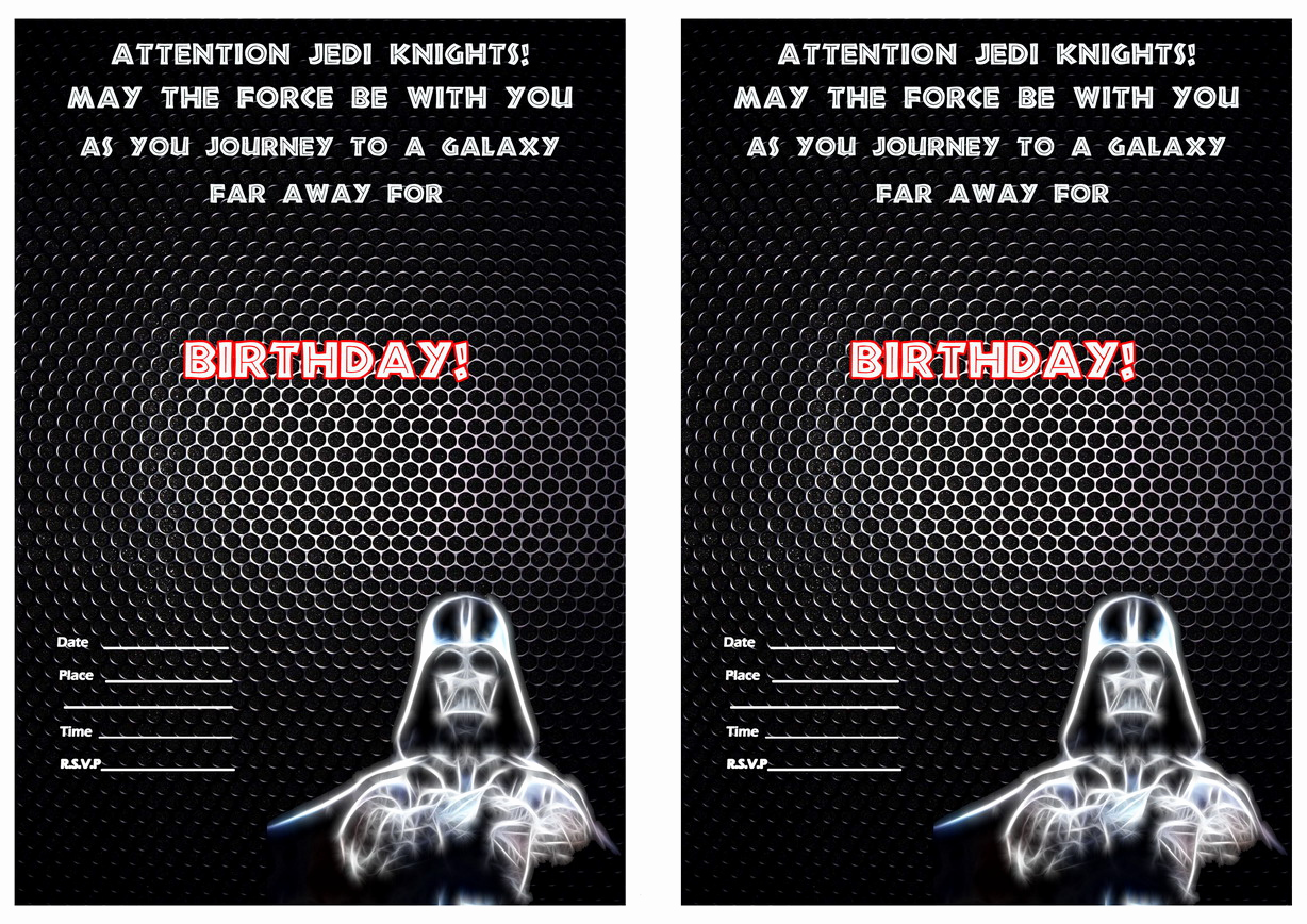 Star Wars Invitation Templates Lovely Star Wars Birthday Invitations Template
