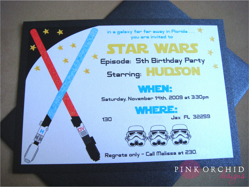 Star Wars Invitation Templates Lovely Star Wars Birthday Party Invitations Templates