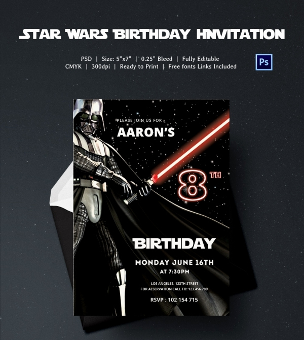 Star Wars Invitation Templates Luxury 23 Star Wars Birthday Invitation Templates – Free Sample