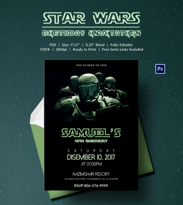 Star Wars Invitation Templates New 23 Star Wars Birthday Invitation Templates – Free Sample