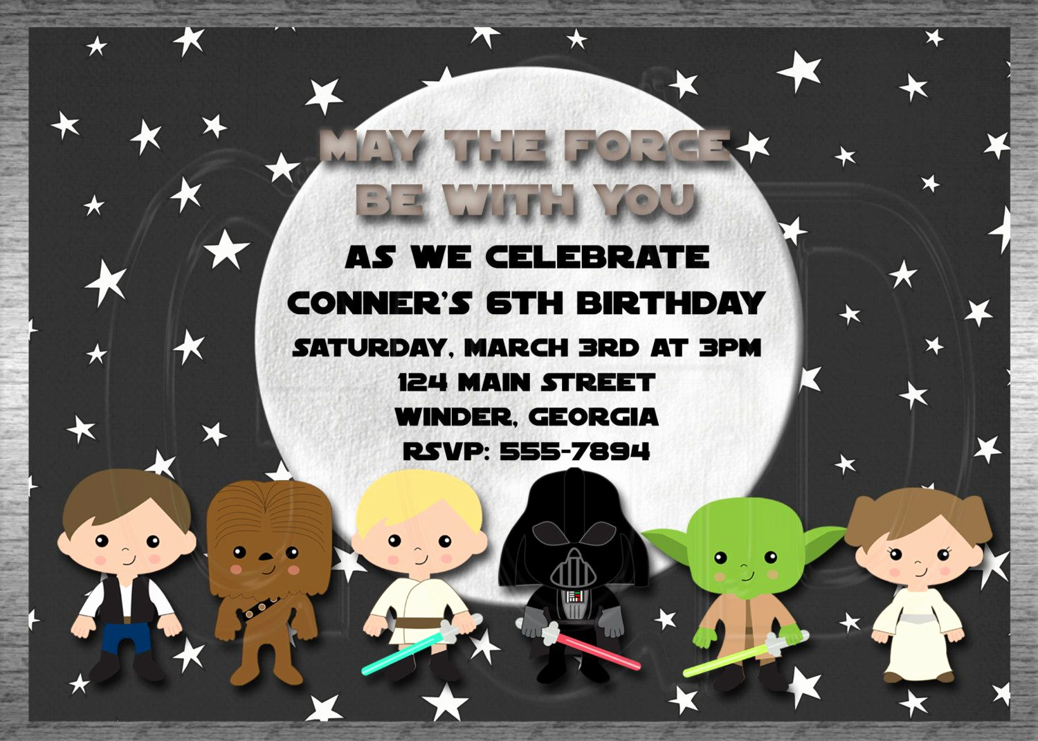Star Wars Invitation Templates New Galaxy Star Wars Invitation Star Wars Birthday Party