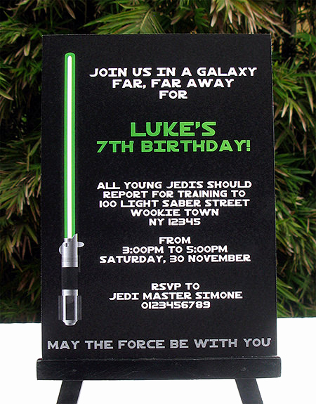 Star Wars Invitation Templates Unique Star Wars Jedi Training Birthday Party Printables