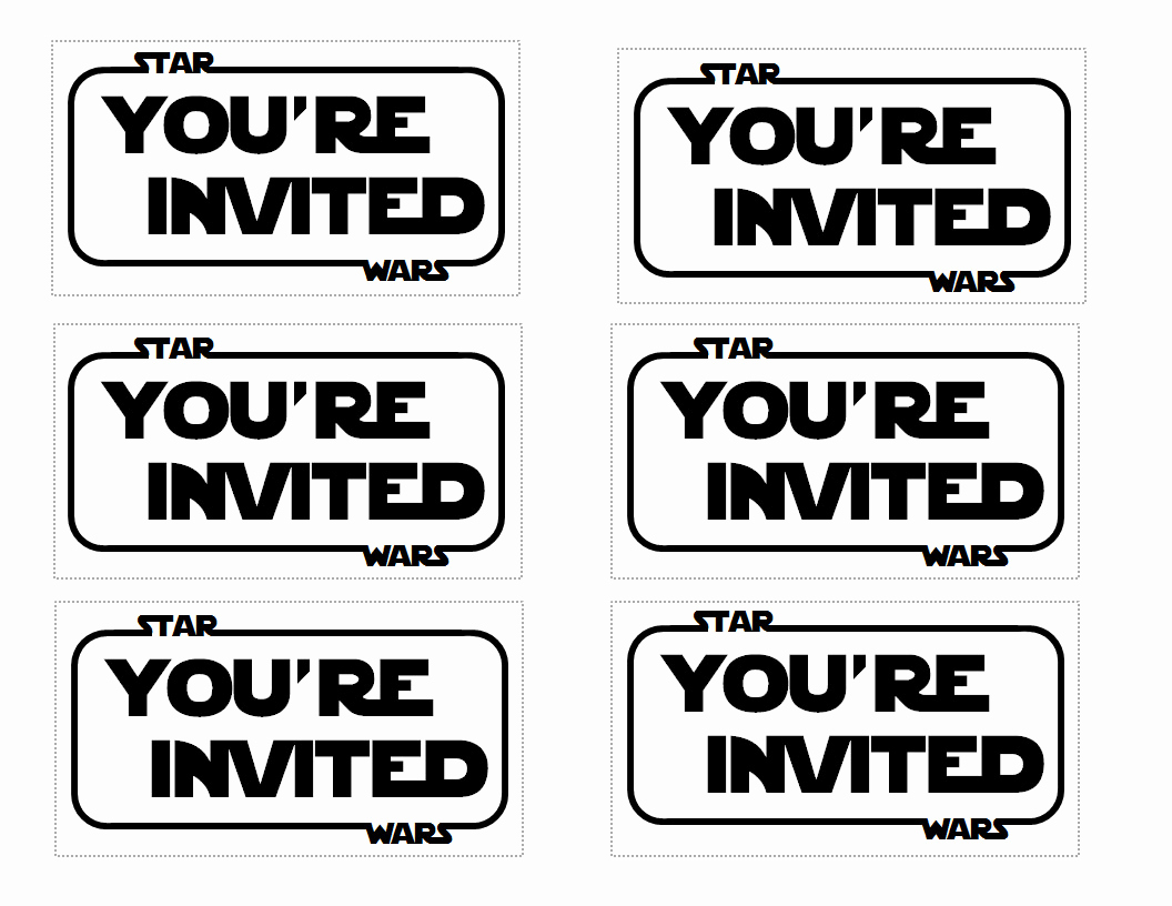 Star Wars Invitations Template Awesome Star Wars Party Invitation Templates