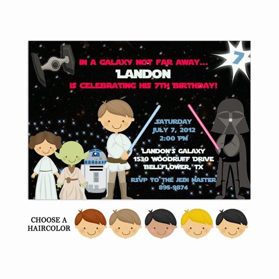 Star Wars Invitations Template Beautiful Printable Star Wars Invitations Star Wars Party Template