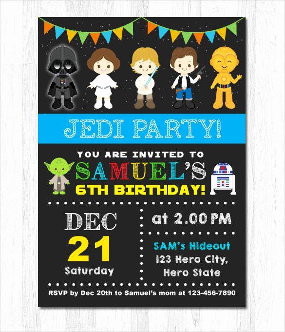 Star Wars Invitations Template Best Of Get Free Star Wars Birthday Invitations