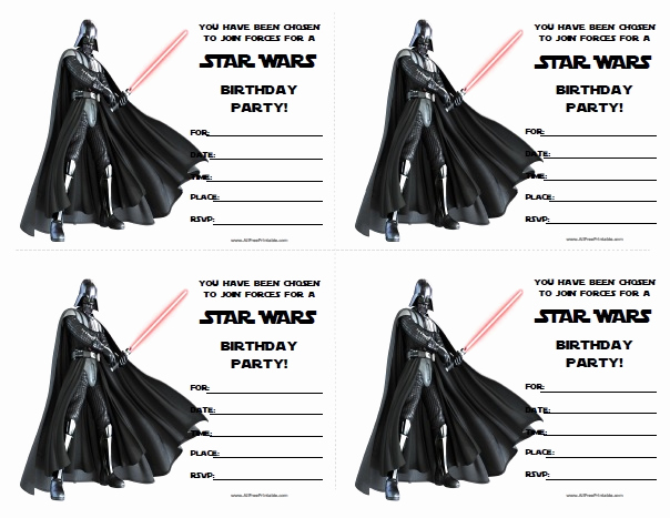 Star Wars Invitations Template Best Of Star Wars Birthday Invitations Free Printable